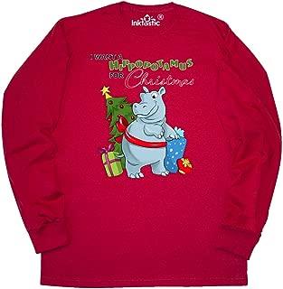 I Want a Hippopotamus for Christmas Long Sleeve T-Shirt