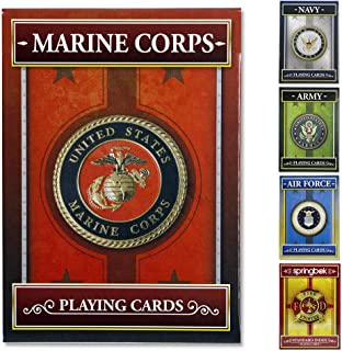 Springbok - United States Marine Corps Playing Cards - Officially Licensed 52 Playing Card Deck - Made in USA