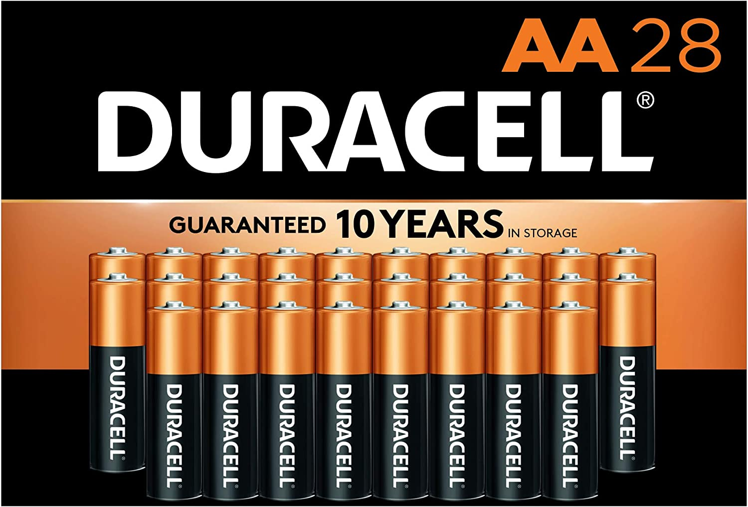 Duracell 28-Count CopperTop AA Alkaline Batteries $9.20 Coupon