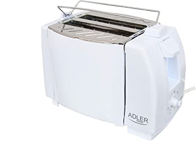 Adler Toaster for Two Slices with 750 W Power AD 33, White