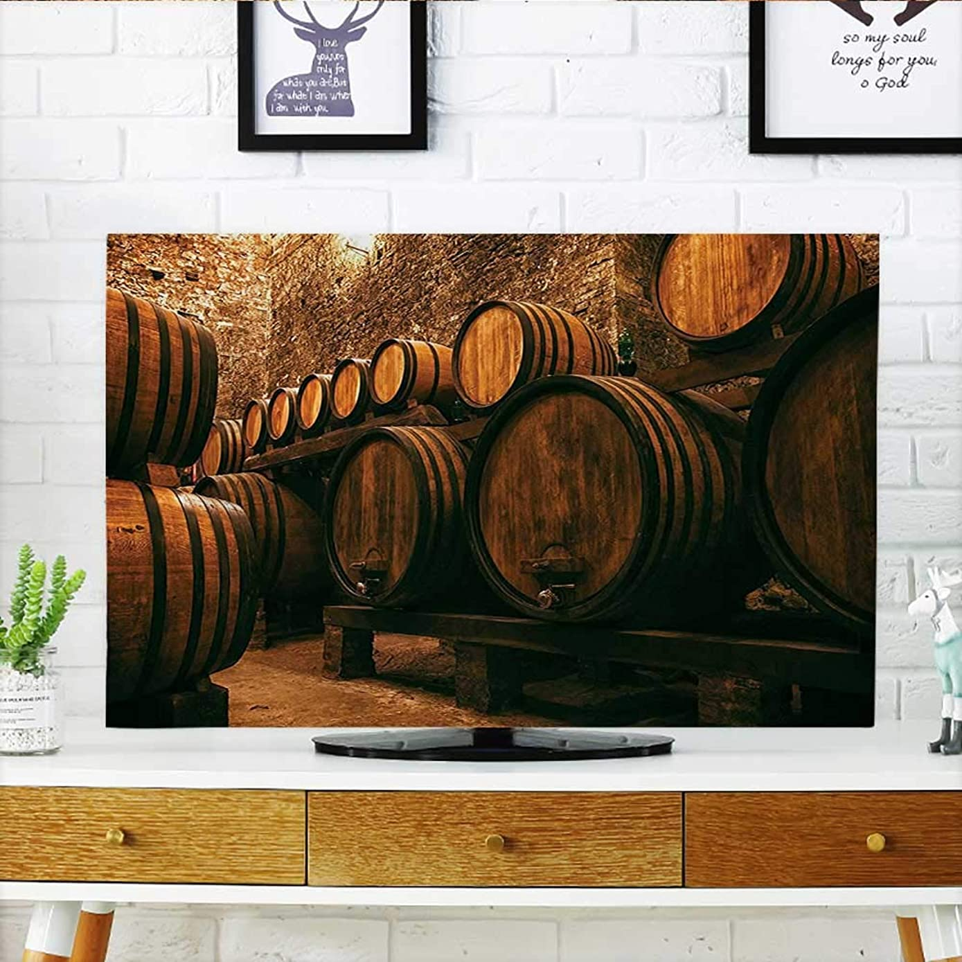 Jiahonghome Protect Your TV Collection Barrels for Storage of Wine Italy Oak Container in Cold Dark Underground Protect Your TV W35 x H55 INCH/TV 60