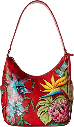 Anuschka Handbags - 382 Classic Hobo With Side Pockets