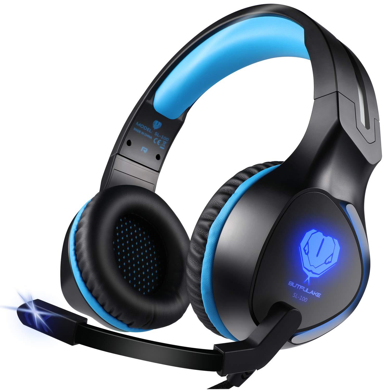 PS4用ゲーミングヘッドセット 有線 3.5mm 高音質 ステレオ 騒音隔離 マイク付 PS4/Nintendo Switch/Xbox One/ノートパソコンに対応