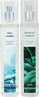 Ajmal Wild Waters & Primitive Forests EDT Combo pack of 2 each 250ml (Total 500ML) for Men & Women + 4 Parfum Testers