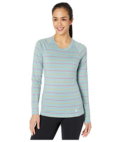 Smartwool Merino 150 Baselayer Long Sleeve (Wave Blue Stripe) Women