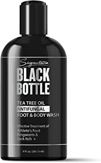 Antifungal Soap w/ Tea Tree Oil & Active Ingredient Proven Clinically Effective for Jock Itch, Athletes Foot, Ringworm Treatment - Signature Black Bottle Body Wash - 9 oz. (1pk)