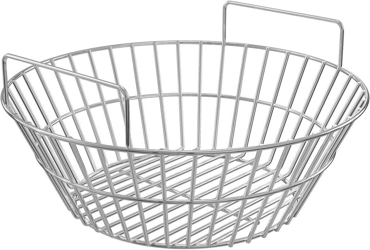 X Home Charcoal Basket for Kamado Joe Classic, Heavy Duty Stainless Steel Charcoal Ash Basket for Large Big Green Egg, Vision Grill and Char-Griller Akorn Kamado Grill