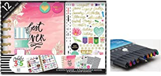 me & my BIG ideas The Happy Planner, Best Year Ever Box Kit, 12 Month Undated, Comes With Kemah Craft 10 Pc Fineliner Color Pens Set (BOX-109-CP)