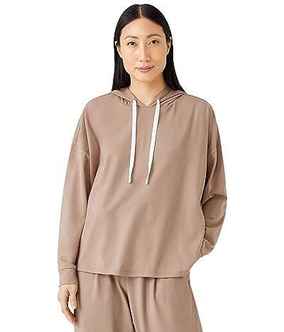 Eileen Fisher Boxy Organic Cotton Stretch Jersey Hoodie