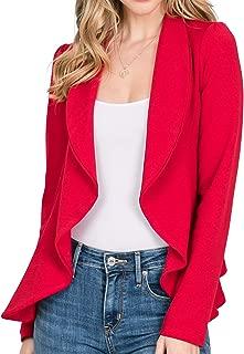 Women's Long Sleeve Cardigan Lightweight Open Front Office Blazer with Plus Size