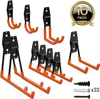 ORASANT 10-Pack Steel Garage Storage Utility Double Hooks, Heavy Duty for Organizing..