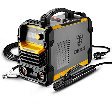 DEKO 220V MMA soudeur, 250A 5.8KVA ARC support d'électrode de Machine de soudage, pince de travail, câble adaptateur d'alimentation d'entrée et brosse
