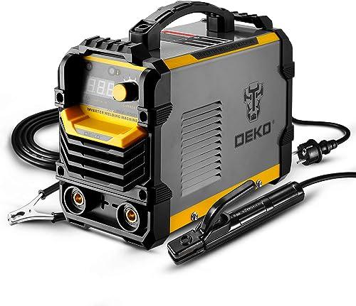 DEKO 220V MMA soudeur, 250A 5.8KVA ARC support d'électrode de Machine de soudage, pince de travail, câble adaptateur ...