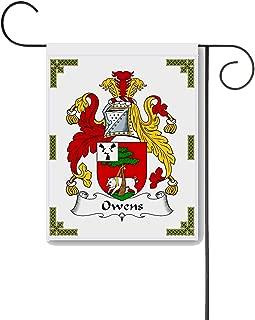 Carpe Diem Designs Owens Coat of Arms/Owens Family Crest 11 X 15 Garden Flag – Made in The U.S.A.