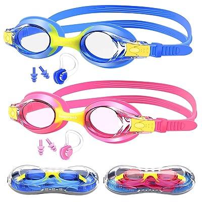 Hutigertech Kids Swim Goggles, No Leaking Anti ...