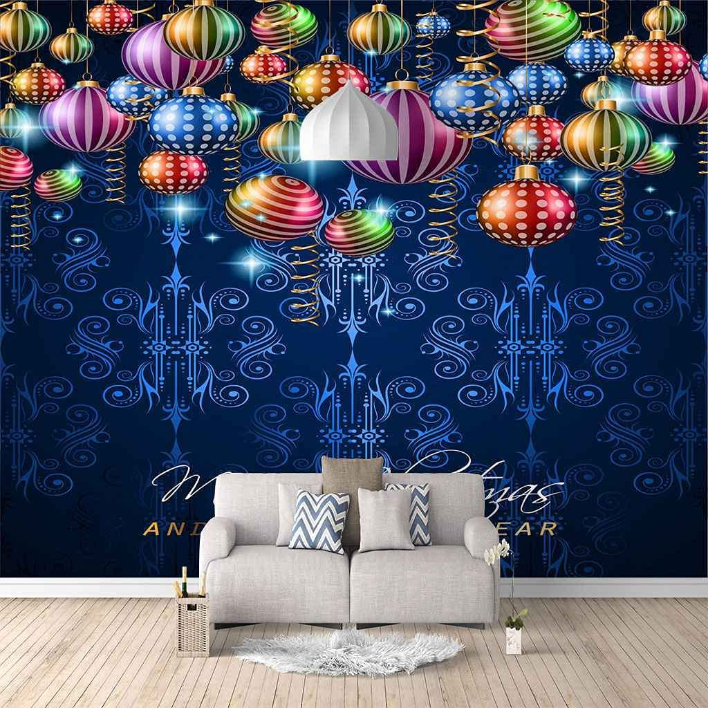 Be super welcome HWCUHL 3D Wall Stickers Spring new work Mural Hanging Colorful Christmas Balls W