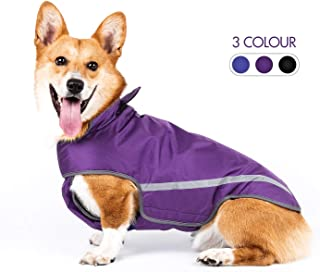 senye Dog Raincoat Ajustable Pet Waterproof Clothes,Lightweight Rain Jacket Poncho Hoodies with Strip Reflective for S-3XLarge Dogs and Puppies