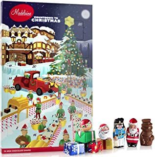 Madelaine Chocolates Santa's Workshop Christmas Countdown Advent Calendar, Filled With (6 oz - 170 g) Solid Premium Milk Chocolate (1 Pack)