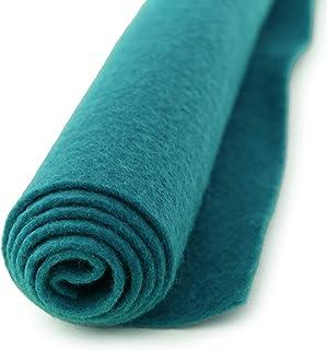 Peacock Blue Turquoise - Wool Felt Oversized Sheet - 20% Wool Blend - 36 in x 36 in Sheet
