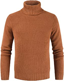 Men's Basic Autumn Long Sleeve Turtleneck Thermal Cozy Pullover Sweatshirt Tops