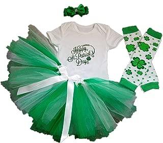 Baby Girls 4PCS 1st St. Patricks' Day Tutu Outfit Newborn Party Dress