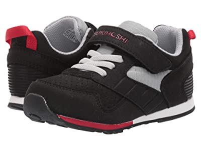 Tsukihoshi Kids Racer (Toddler/Little Kid) (Black/Red) Boys Shoes