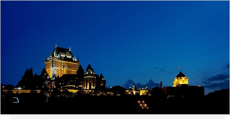 Trademark Fine Art Night Quebec City Ontario color by Monte Nagler, 10x19