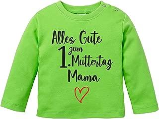Vatertag EZYshirt/® Vatertagsgeschenk Hand in Hand T-Shirt Baby Langarm Bio Baumwolle Alles Gute zum 1