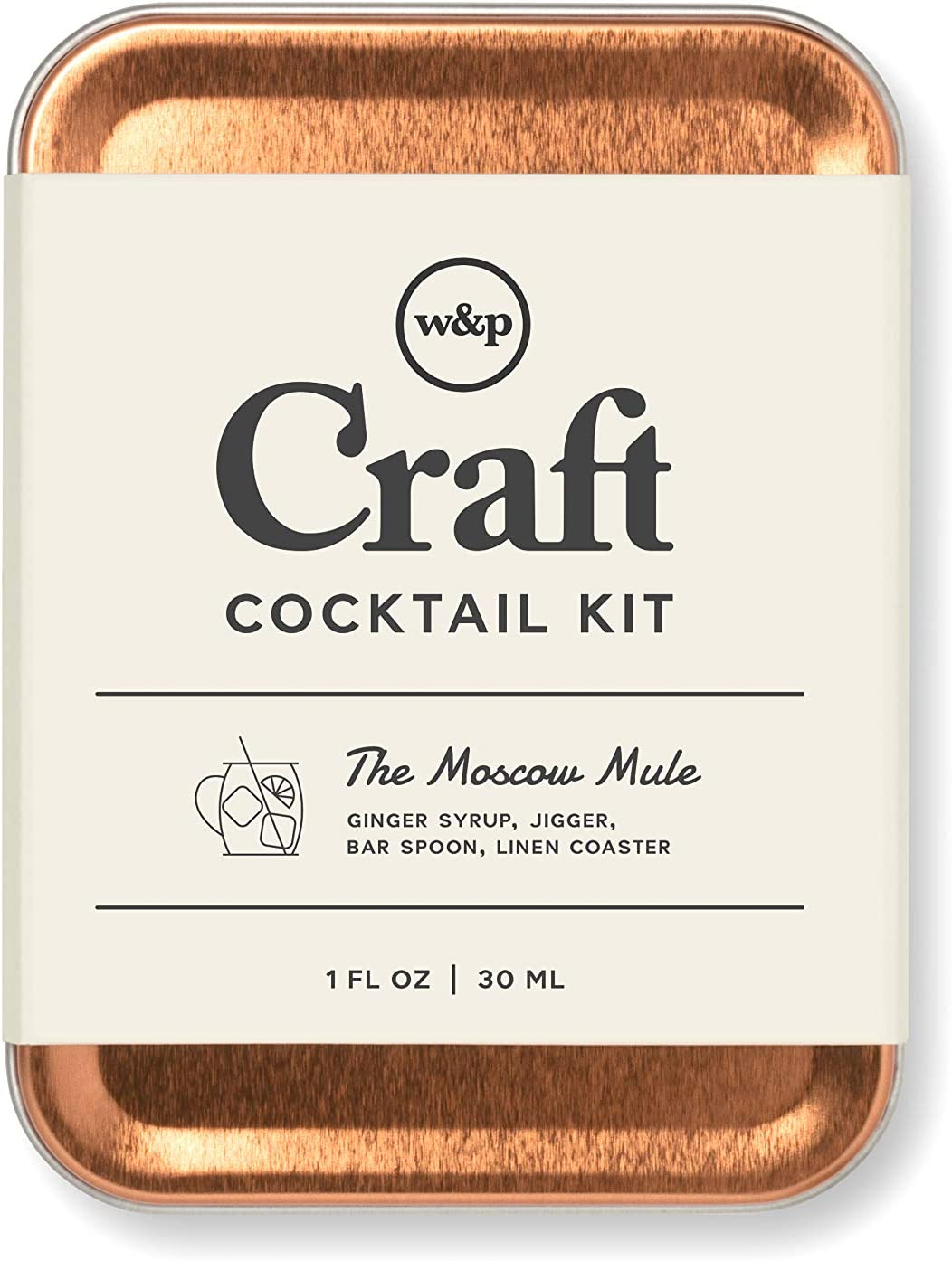 W&P Craft Cocktail Kit, Moscow Mule, Portable Kit for Drinks on the Go, Carry On Cocktail Kit, Makes A Great Gift