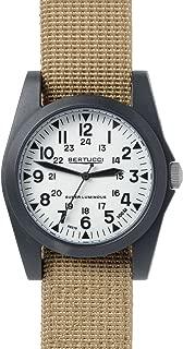 Bertucci A-3P Sportsman Vintage Field White / Black / Khaki Nylon Analog Quartz Men's Watch 13357