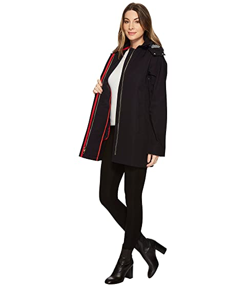 Vince Camuto Hooded Trench Navy Free Shipping In UK M7DWSHYI