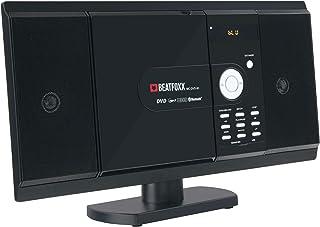 Beatfoxx MC-DVD-90 chaîne stéréo compacte verticale, lecteurs DVD/CD/MP3, portes..