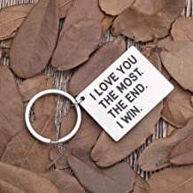 Anniversary Gifts for him her Husband Boyfriend Keychain Gifts for Wife Girlfriend Birthday Wedding Gifts from Wifey Hubby Valentine Day Gifts Couple Key Chain Tag Present for Men Women