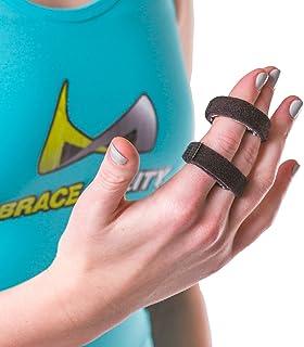 BraceAbility Buddy Tape Finger Splint Wraps | Non-Slip Loop Straps for Treating / Taping a Jammed Finger, Sprained Knuckl...