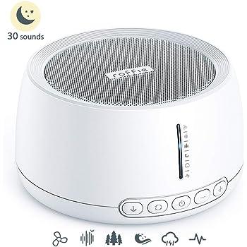 White Noise Machine, Roffie Einschlafhilfe Weißes Rausche Maschine, 30 Natürliche Beruhigender Geräuschen, Sound-Therapie für Baby/Erwachsene, Timer Funktionen, Tragbarer für Zuhause, Büro, USB