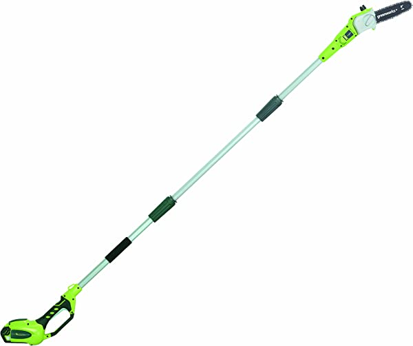 Greenworks 8 5 40V Cordless Pole Saw 2 0 AH Battery Included 20672