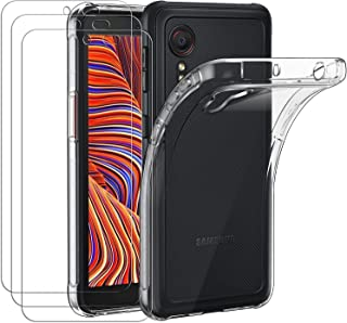 ivoler Coque pour Samsung Galaxy Xcover 5 / Samsung Galaxy XCover5, avec Lot de 3 Protection Écran en Verre Trempé, Transp...