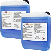 Well2wellness Pool Prevenir las Algas + Alguicida Extra 'Blue' 10L (2 X 5,0 L) - Alta Concentración + sin Espuma