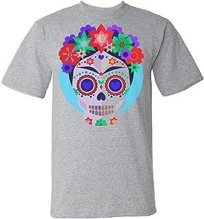 Artist Inspired Skull with Flowers Men's T-Shirt