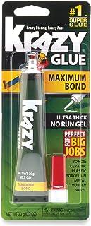 چسب Krazy Glue Maximum Bond Super Glue ، ژل بدون اجرا ، 20 گرم