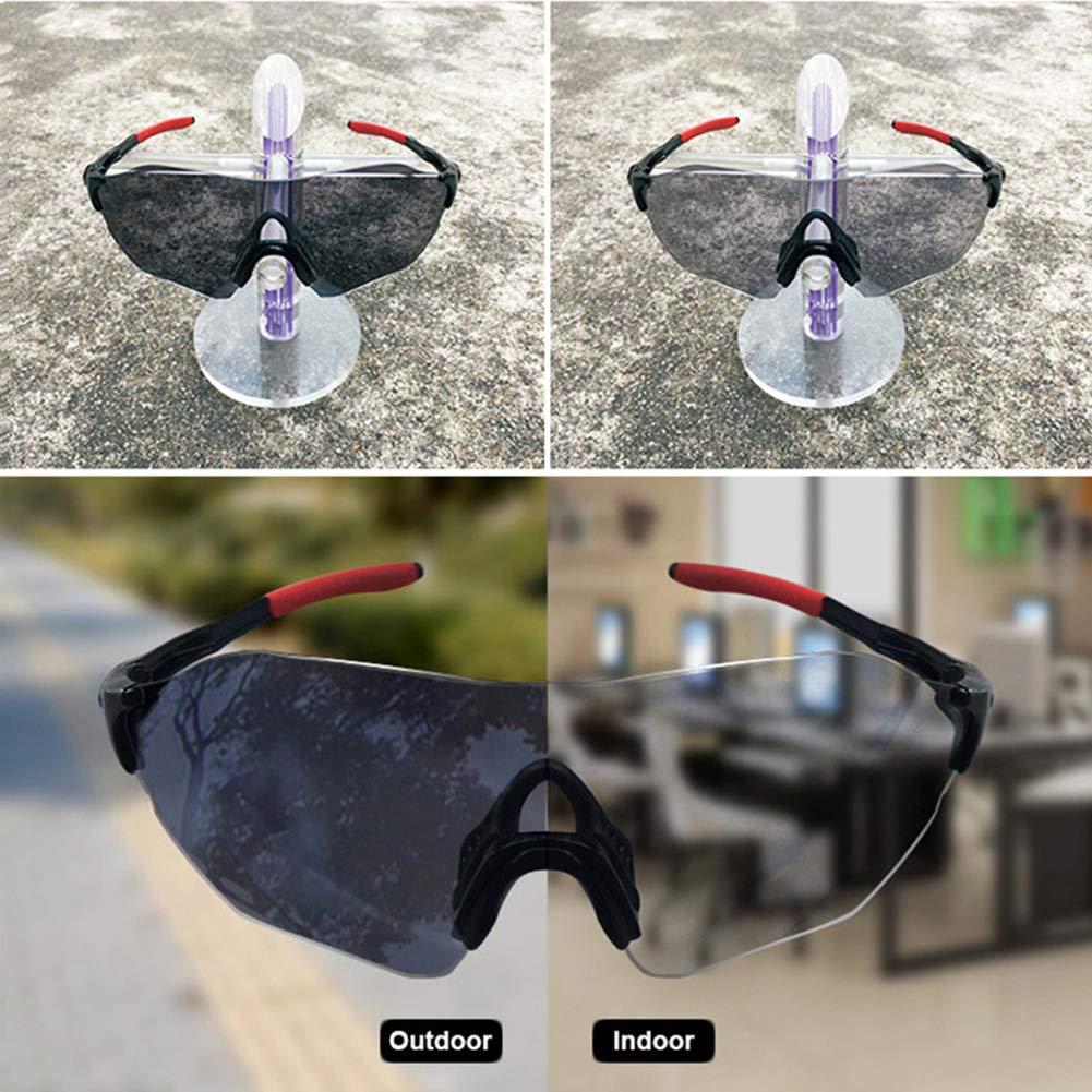 Lesrly-Cycle Gafas de Sol Deportivas fotocromáticas polarizadas sin Marco para Hombres, Mujeres, Gafas de Ciclismo con Correa Lente TAC con protección UV400 - Ciclismo/Conducción/Pesca,Negro: Amazon.es: Deportes y aire libre
