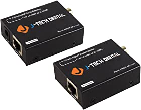 J-Tech Digital Optical/Coaxial Digital Audio Extender/Converter Over Single Cat5e/6 Cable (PoC) up to 990' (300m) for Dolby Digital, DTS 5.1, DTS-HD, PCM [JTECH-AET1000]