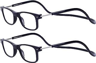 1748f11028 Magnéticas Gafas de lectura Plegables 2-Pack Negro +2.0 Presbicia Vista  para Hombre y