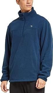 BALEAF Men's 1/4 Half Zip Polar Fleece Jacket Thermal Running Pullover Side Zipper Pockets