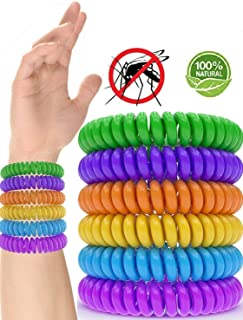 Mosquito Repellent Bracelet 10 Pack 100% Natural...
