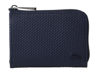 Lacoste Chantaco Small Zip Around Camera Bag (Peacoat Blue) Bags