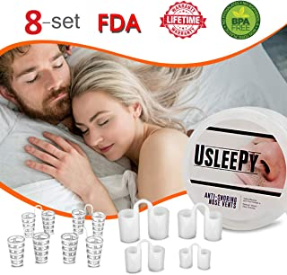 Upgrade Snoring Solution Device, 8 Set Anti Snoring Nasal Dilator 4 Size Nose Vents Stop Snoring Aid Snore Stopper Reduce Snoring for Ease Breathing Comfortable Sleeping Snore Relief