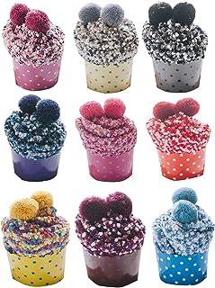 Calcetines Mujer Con Pompon De Colorines Empaquetado De Forma Pastel Cupcake Grueso Para Invierno