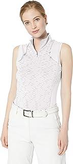 Cutter & Buck Womens LAK00079WH Drytec UPF 50+ Sleeveless Elite Contour Mock Jersey Shirt Sleeveless Golf Shirt