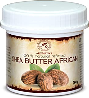 Shea Butter Refined for Massage & Body Care 7oz - 100% Pure & Natural African Shea Butter - Butyrospermum Parkii - Body Butter